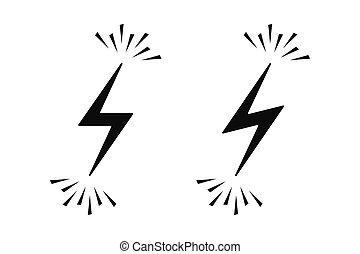 sparks., vecteur, électrique, signe