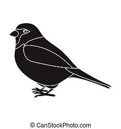 Sparrow icon in black style isolated on white background....