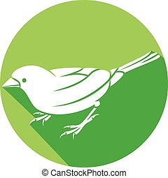 sparrow - small bird flat icon