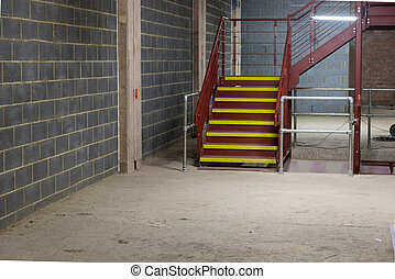 Empty and Bare Building Interior with Materials and Structure Exposed