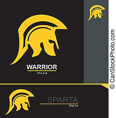 sparta warrior - Historical Sparta concept icon. Antique...