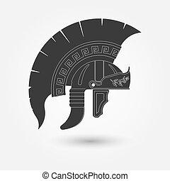spartan, πολεμιστής , κράνος