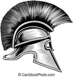 Spartan Ancient Greek Warrior Gladiator Helmet