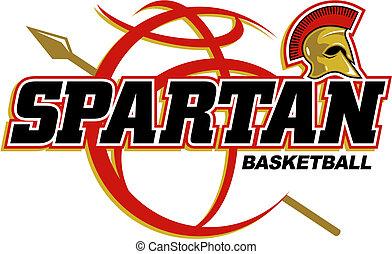 spartan basketball design with basketball