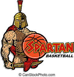 spartan basketball design