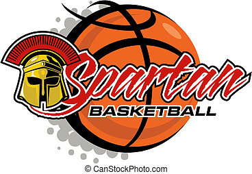 spartan basketball - Spartan basketball design with helmet...
