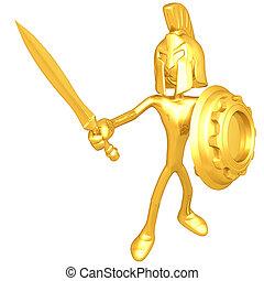 spartan, engranaje, protector