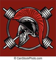 spartan fitness vector design