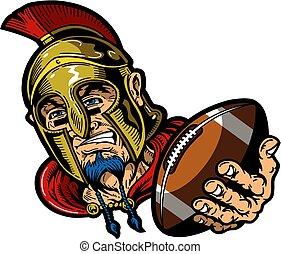spartan football mascot