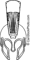 Spartan Gladiator Roman Trojan Warrior Helmet