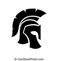 Spartan Helmet icon - Gladiator helmet silhouette icon....