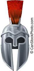 Spartan helmet illustration - Illustration of Corinthian or...