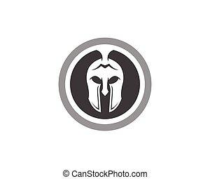 Monochrome spartan helmet illustration illustration of vector spartan helmet logo template pronofoot35fo Choice Image