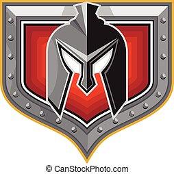 Spartan Helmet Shield Retro