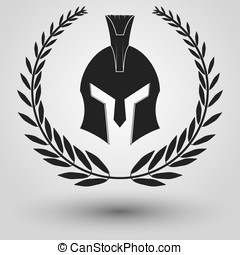 Spartan helmet silhouette - Spartan Helmet full face...