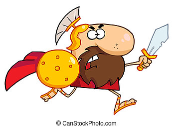 spartan, macho, gladiator, espada