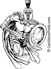 Spartan man running