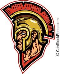 spartan mascot head