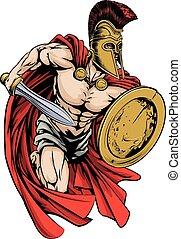 spartan, maskotka