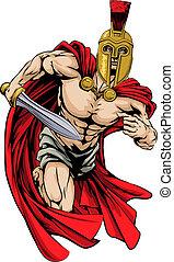 Spartan or trojan man