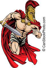 spartan, sport, maskottchen
