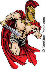 Spartan sports mascot - An illustration of a warrior...