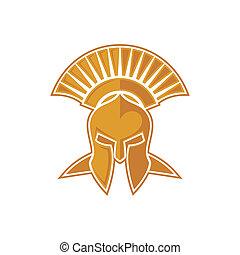 Spartan symbol/mascot design.