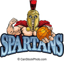 Spartan Trojan Basketball Sports Mascot