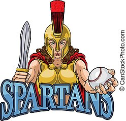 Spartan Trojan Gladiator Baseball Warrior Woman