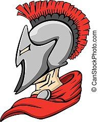 Spartan Trojan Mascot
