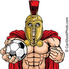 Spartan Trojan Soccer Football Sports Mascot
