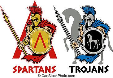 spartan, vagy, trójai