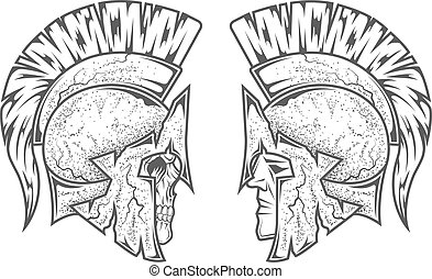 Spartan warriors. Two variants. - Spartan warriors. Two...