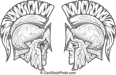 Spartan warriors. Two variants. - Spartan warriors. Two...