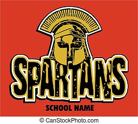 spartans - Spartans design with distressed helmet