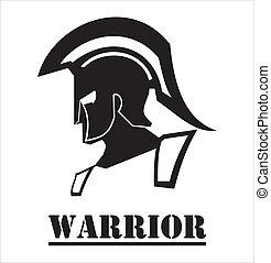 sparta/trojan, guerrero
