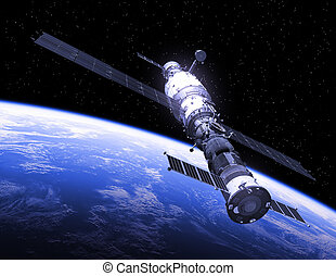 spasecraft, stazione, spazio