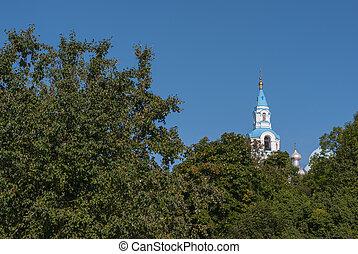 Spaso-preobrazhenskiy Cathedral on Valaam island in summer -...