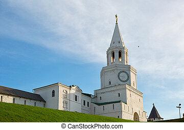 Spasskaya (Savior's) Tower, Kazan Kremlin in Russia