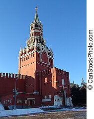 Spasskaya tower - A view of the Spasskaya (Savior) tower, ...