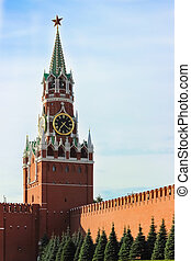 Spasskaya Tower of Moscow Kremlin on Red Square