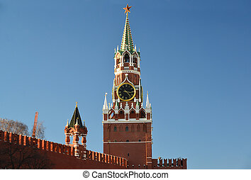 Spasskaya tower of Moscow Kremlin, Russia