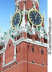 """""""Spasskaya"""" tower of Moscow kremlin. Russia"""