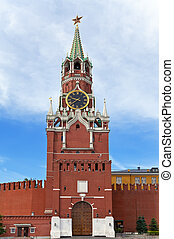 Spasskaya Tower of Moscow Kremlin, Russia.