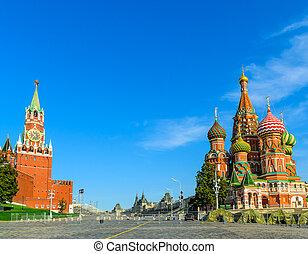 Spasskaya Tower of the Kremlin in Red Square