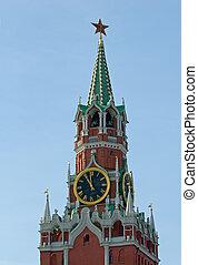 Spasskaya tower of the Kremlin, Moscow, Russia