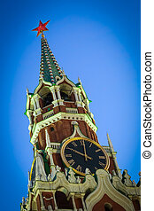 Spasskaya Tower of the Moscow Kremlin close up