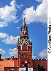 Spasskaya tower on Red Square in Moscow
