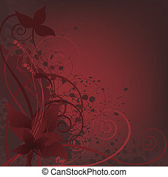 spattered background with leaves - dark background spattered...