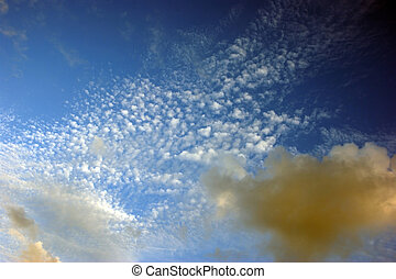 spattering of various types of clouds - various types of...